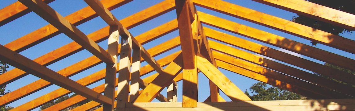 Vigas e Barrotes estrutura em madeira